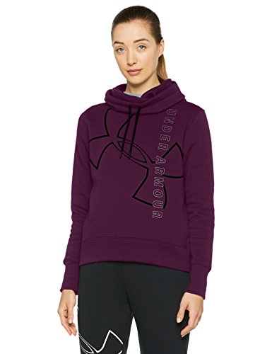 Under Armour, Good Europe Hoodie, Felpa, Donna, Rosso (Merlot Stealth (T4V)