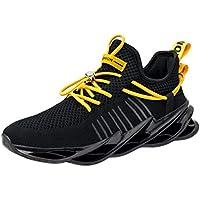 Sneakers Hombre Malla Tejida con Mosca Zapatos De Running Transpirables Casual Zapatos Gimnasio Zapatillas De Deporte