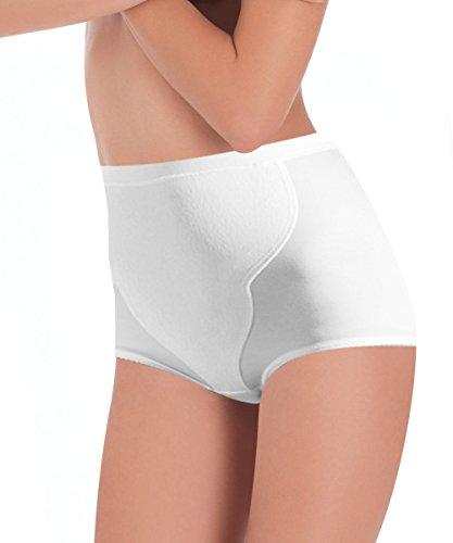 Lady bella p0202 guaina contenitiva modellante donna, pancera snellente con pannello frontale rinforzato per pancia piatta ed una taglia in meno, ideale anche come soluzione post parto (bianco, large)