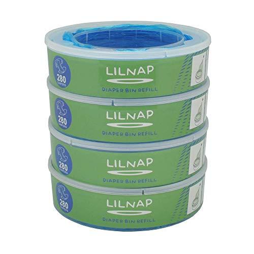 LILNAP - Ricarica compatibile per Mangiapannolini Maialino Angelcare (4 ricariche)