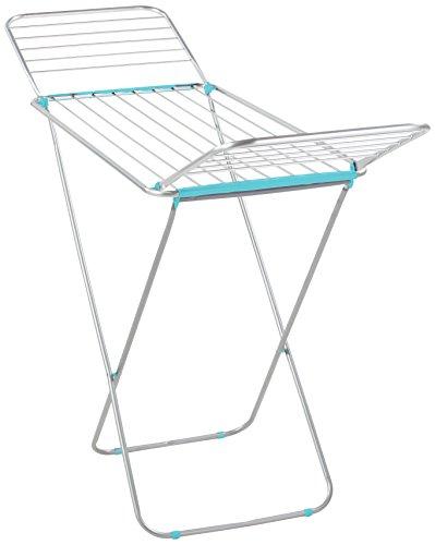 Leifheit 7064-Tendedero Siena 180,Color, Azul de Aluminio, 55x5x131 cm