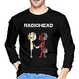 Photo de Best of Radiohead Radiohead Herren T-Shirt aus Baumwolle Soft Long Sleeve Man Tees Black par Pillowcase Wholesale
