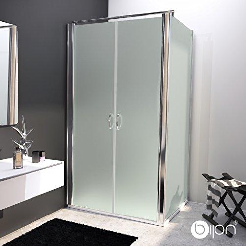 bijon® Design Glas Eckdusche mit Pendeltür | Nano | Mattglas | 90 x 195cm + Seitenwand 90 x 195cm