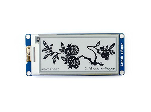 Waveshare 2.9 Inch E-Paper Display Panel Module Kit 296x128 Resolution E-Ink Electronic Screen for Raspberry Partial Refresh SPI Interface Screen Panel Kit