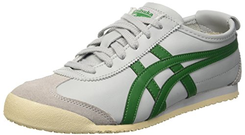 Asics Mexico 66, Sneakers Basses mixte adulte Grigio (Light Grey/Green)