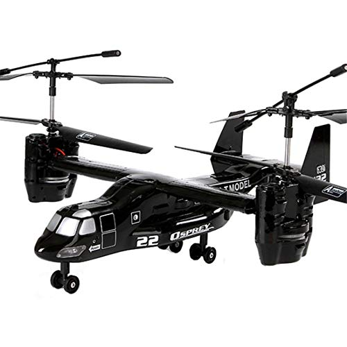 Zgifts Remote Control Helicopter 4.5 Channel American Bomber Model-Hobby RC Radio Plane Toys Crash Resistance for Indoor Outdoor Children Kids Kids Christmas, Black