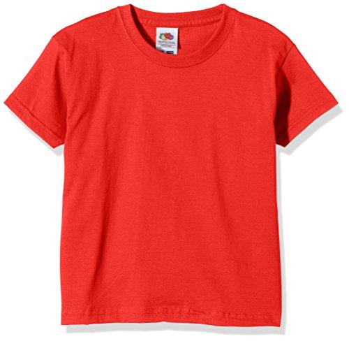 fruit-of-the-loom-ss028b-t-shirt-bambino-rosso-medium