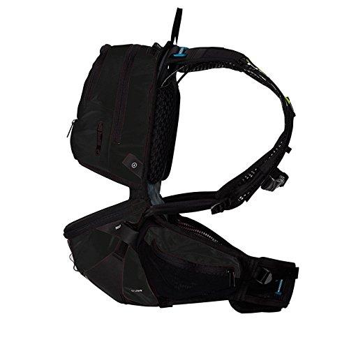 Ergon BE3 Daypack Rucksack Outdoor Enduro 10L Fahrrad Hüftgurt Trinkblase Regenhülle Tasche, 45000800, Farbe schwarz, Größe L
