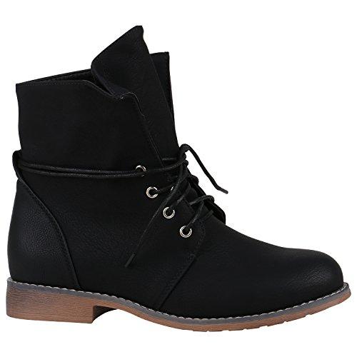 Damen Schnürstiefeletten Leicht Gefüttert Stiefeletten Profilsohle Schuhe 149690 Schwarz Bernice 36 Flandell N4wIVyGhW