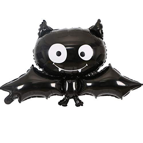 1set Nette Halloween-Luftballon Mode Art-Aluminiumfolienballon für Sammeln Partei Prop liefert Dekoration (schwarz ()