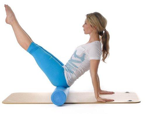 ScSPORTS Pilatesrolle, Massagerolle, Gymnastikrolle, Schaumstoff, blau, 15 x 90 cm