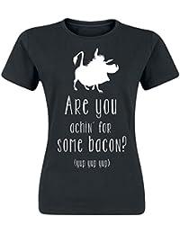 Der König der Löwen The Lion King Bacon Girls Shirt Black