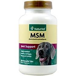 Naturvet Msm Tabletten Gelenk Und Hip Gesundheit Für Hunde Arthritis Wellness 250Ct