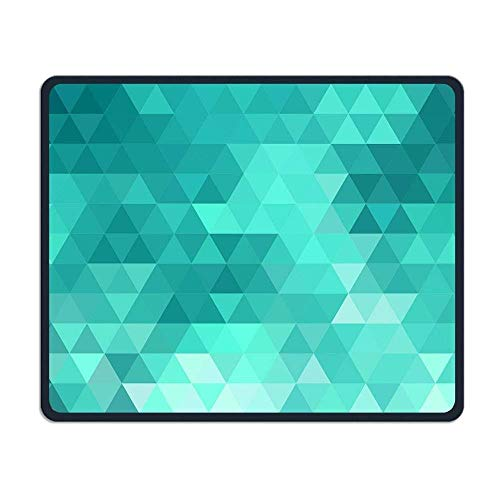 Art Teal Geometric Illustrations Mouse Pad 7.08X8.66 inches/18X22 cm with Decor,Anti-Skid Rubber Mouse Pad,with Stitched Edges (Teal Decor Tabelle)