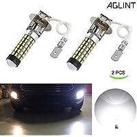 AGLINT H3 LED Coche Luz De Niebla DRL Bombilla 3014 78SMD Super Brillante LED Luces Antiniebla 12V 24V 6000K Blanco