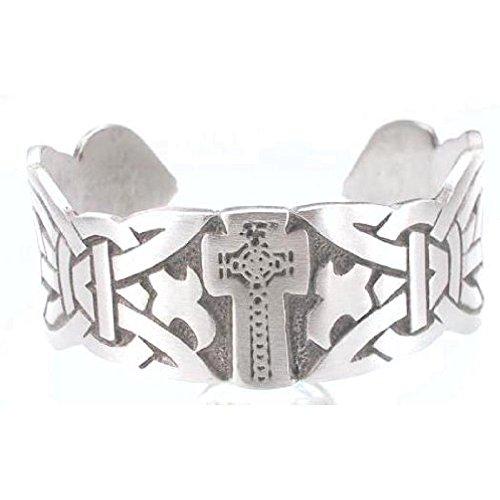 Llords Schmuck keltisches Kreuz Armreif klassisch in irischem Knoten Design, feinster Zinn Metall Modeschmuck