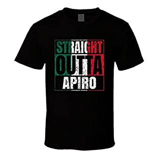 Straight Outta Apiro Italian City Worn Look Parody T Shirt