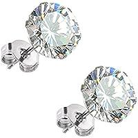 Diamante solitario orecchini placcato platino