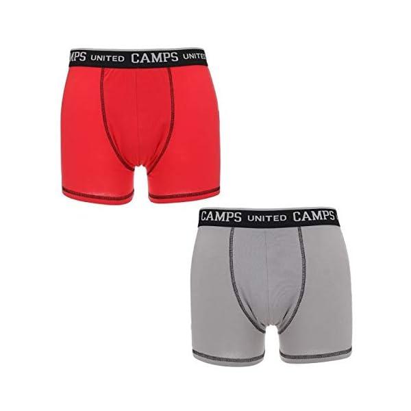414ups5CrVL. SS600  - CAMPAMENTOS Lote de 2 boxers grises y rojos para hombres