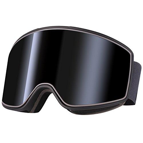 Anti-Fog Anti-Beschlag Anti-Rutsch UV-Schutz S2 verspiegelte sphärische zylindrische Linse Brillenträger Helm kompatibel rahmenlos Skibrille Goggle Snowboardbrille Herren Damen Erwachsener Andake