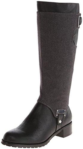 Bella Vita Anya II Rund Stoff Mode-Knie hoch Stiefel Black/Gray
