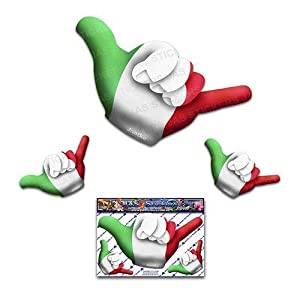 Kleine italienische Flagge HANG LOSE lustige Auto Aufkleber Decals - ST00055IT_SML - JAS Aufkleber