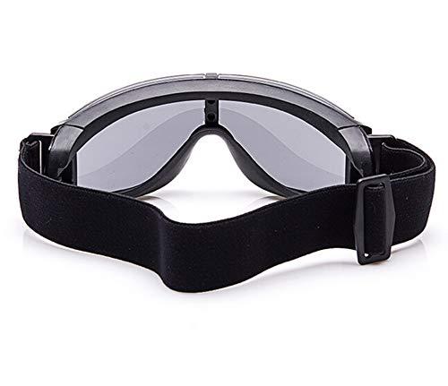 DOLOVE Motorradbrille Herren Schutzbrille Beschlagfrei Schießbrille Verstellbar Schutzbrille Brillenträger Damen Schwarz