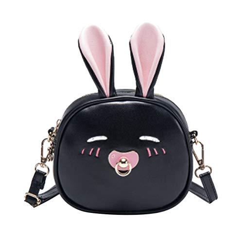 Niedlichen Cartoon Kaninchen PU Messenger Bags Schultasche für Kinder Mädchen Geschenke -