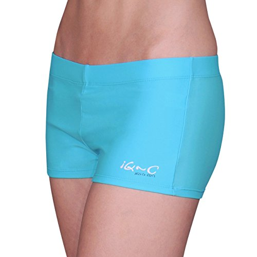 iQ-Company Damen UV Kleidung 300 Hot Pants, Turquoise, S, 6601222518-38S