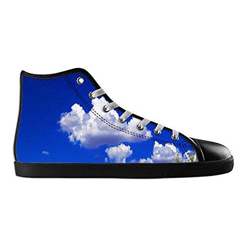 Dalliy Blaue Wolken Men's Canvas shoes Schuhe Lace-up High-top Sneakers Segeltuchschuhe Leinwand-Schuh-Turnschuhe E