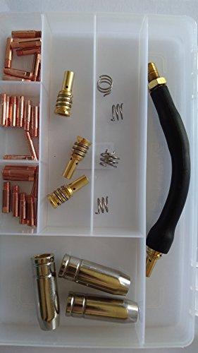 arc-rite (kit02) MB15Schweißen Kit–Tipps, Standrohre, Quellen, Schwanenhals in einer Kunststoff-Aufbewahrungsbox (Tipps Aufbewahrungsbox)