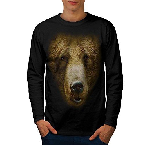 grizzly-brown-bear-wild-animal-men-new-black-m-long-sleeve-t-shirt-wellcoda
