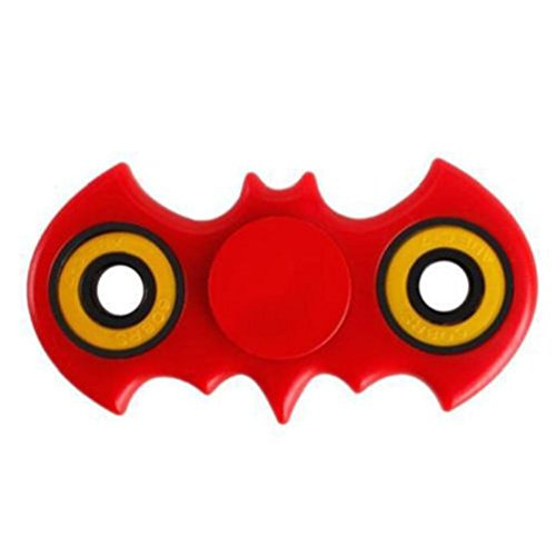 Usa Red Bat Style Figit Tri Fidget Hand Spinner EDC Stocking Stuffer Toy 1Pc Test