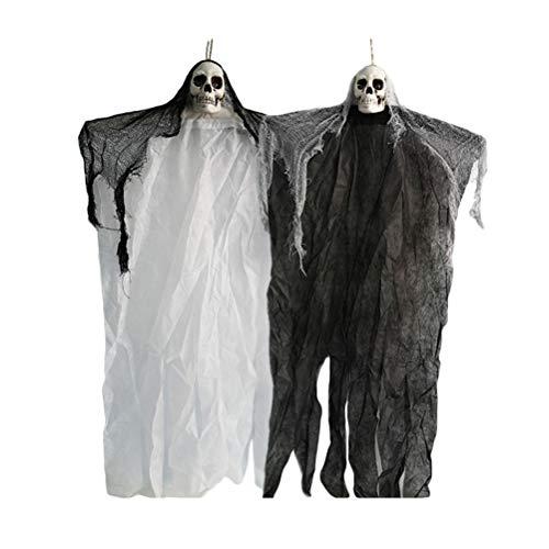Toyandona Hängender Geister Halloween Halloween Requisite Totenkopf abnehmbare biegbare Arme für Halloween (Halloween Dekorationen Für Ihre Veranda)