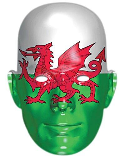 sene Flagge von Wales Maske, Karneval, Fasching, Grün-Weiß-Rot (Weißer Wal Kostüm)