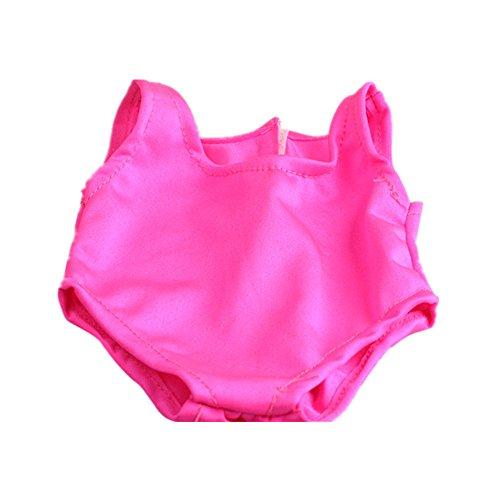 18-Zoll Puppe Puppenkleidung Badeanzug Badebekleidung Bikini für American Girl - rosarot , Medium