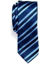 Corbata de microfibra con fina estampado a rayas elegante para hombres de Retreez