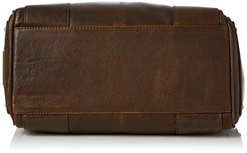 """Ledertragetasche """"Claudia"""" von Catwalk Collection - Größe: B: 30 H: 18 T: 15 cm Braun"""
