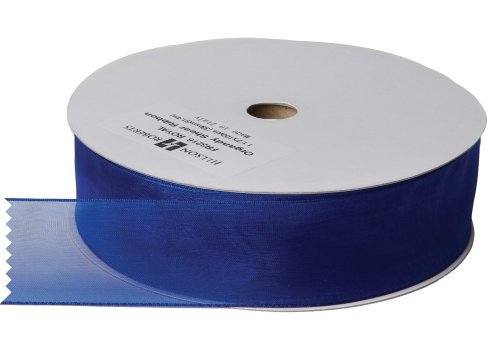 Jillson Roberts Bulk 1-1/2-Inch Sheer Ribbon, Royal Blue, 100 Yard Spool (BFR3216) by Jillson Roberts -