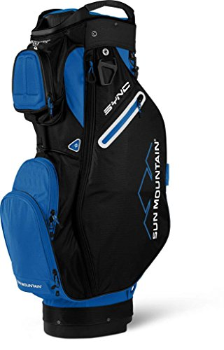 Sun Mountain 2018 Sync Cartbag, Black|Blue - Von Golf Cart Mountain Sun Push