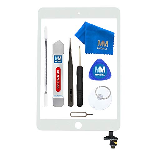 MMOBIEL Digitizer Compatible with iPad Mini 1/2 (White) 7.9 Inch Touchscreen Front Display Incl IC Chip and Tool kit (Reparatur Apple Ipod Tablet Bildschirm)