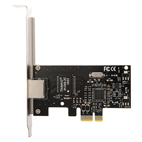 Baoblaze PCIE PCI-Expressx1 to Gigabit Ethernet RJ45 10/100/1000Mbps LAN Network Card