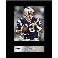 TOM Brady Signiert Foto Display NFL New England Patriots # 1