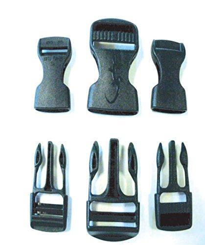 Accessoire de camping-Lot de 7 Boucles sac à dos,boucles 20-25-38mm pour tentes ou matelas -