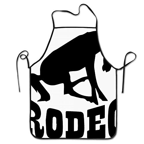 Laohujia Rodeo Horse Deluxe Personalized Kitchen Apron Crazy Horse Rodeo