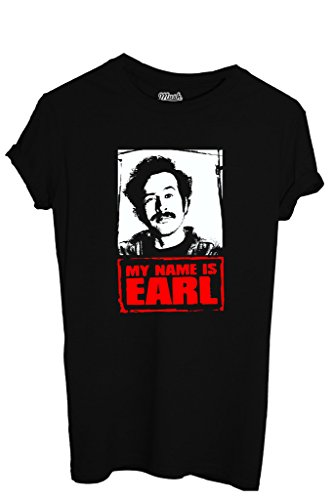MUSH T-Shirt My Name Is Earl - Film By Dress Your Style - Herren-L Schwarz