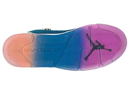Nike Air Jordan Spike Forty Bg, Chaussures de Sport Garçon Multicolore - Negro / Rosa / Naranja (Black / Fr Pink-Pht Bl-Atmc Orng)