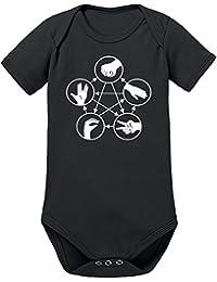 Touchlines Unisex Baby Body Stein Schere Papier Echse Spock