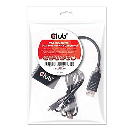 Club 3D Multi Stream Transport Hub DisplayPort 1.2CSV 6200H Dual Black Best Price and Cheapest