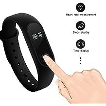 Mi Band 2: Original Xiaomi IP67 elegante pulsera pulsera con pantalla OLED Touchpad monitor de ritmo cardíaco podómetro Fitness Tracker para Android e IOS